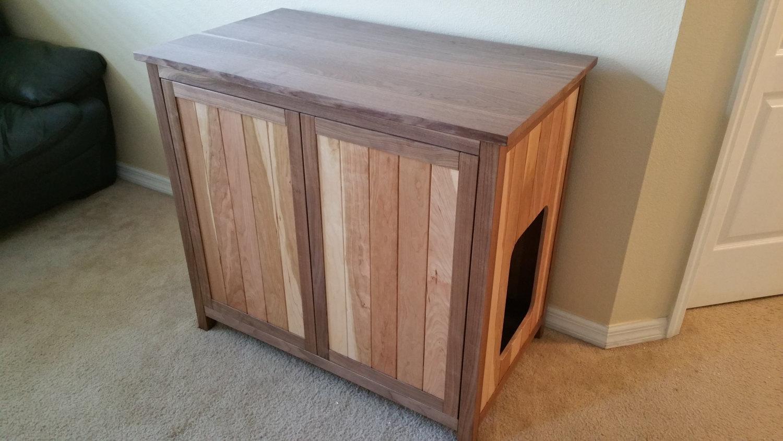 Wood Cat Litter Box Cabinet