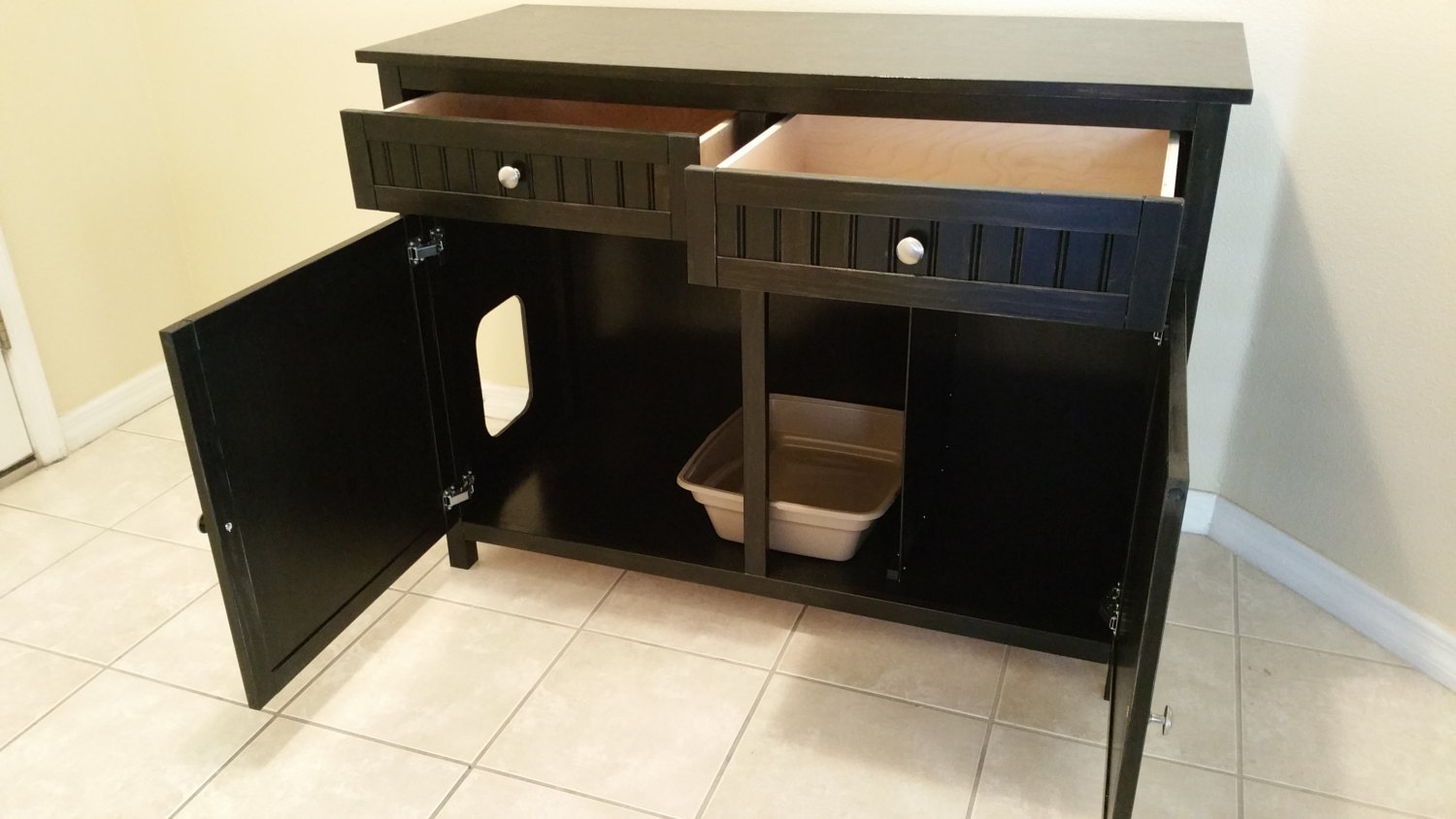 Large 2 Front Drawers Odor Free Custom Hand Made In