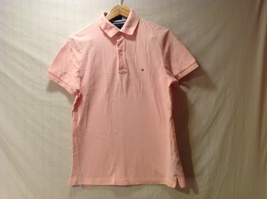 Tommy Hilfiger Mens Pink Polo, Size Small
