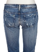 NWT Women's Designer 575 Denim Brand Jeans Skinny 30 Distressed New