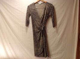 London Times Woman Giraffe Print Wrap Around Dress