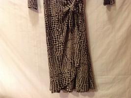 London Times Woman Giraffe Print Wrap Around Dress image 4