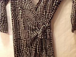 London Times Woman Giraffe Print Wrap Around Dress image 6