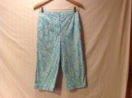 Talbots Woman Petite Stretch Capris, Size 8, aqua blue
