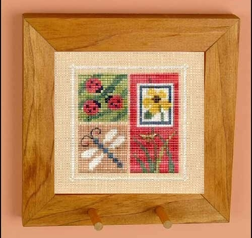 Maple Stained Peg Pine Frame square 4 3/8 wooden Flip it frame