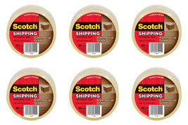 Scotch Commercial Grade Shipping Packaging Tape 1.88 inx54.6 yd Clear 6 ... - $35.99