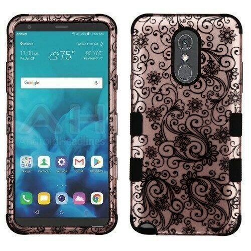 Black Four-Leaf Clover/Black TUFF Hybrid Phone Cover for LG Stylo 4 Plus/Stylo 4