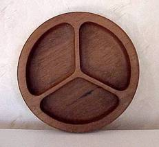 Vintage Solid Teak 3 Compartment Tray by Selian... - $9.00