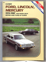 Auto Repair and Tune Up Guide Ford Lincoln Mercury Clymer 1972-1987 Like New - $17.95