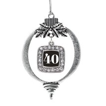Inspired Silver Number 40 Classic Holiday Decoration Christmas Tree Ornament - $14.69