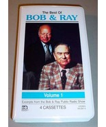 BEST OF BOB & RAY VOL. 1 PBS RADIO SHOW 4 Cassettes Set - $24.95