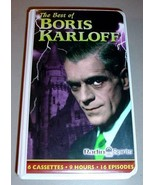 BORIS KARLOFF RADIO SHOWS - 6 Audio Cassettes Set - $24.95