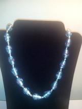 Handmade Blue Lampwork Glass Necklace - $9.99