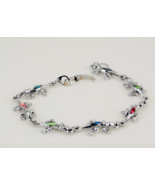 Silverplated S 80 lizard or frog link bracelet ... - $20.00