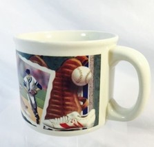 Russ Berrie Yesterday's Ballgame Ceramic Mug Cup Soup Coffee Large 16 oz... - $14.99