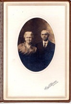 ALPHONSO WARREN & ELIZABETH YOUNG WARREN CABINET CARD PHOTO - Lewiston, ... - $17.50
