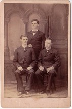 Charles L. Sawyer, George W. Brown, Everett A. Pugsley Cabinet Card Photo - $17.50