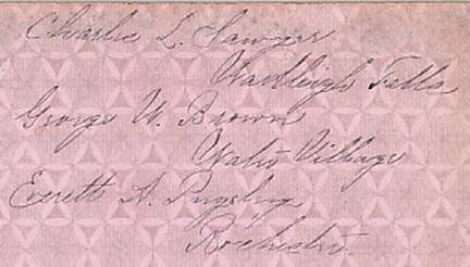 Charles L. Sawyer, George W. Brown, Everett A. Pugsley Cabinet Card Photo
