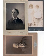 HARRY S. WEBB & FAMILY (3) Cabinet Card Photos - Glendale, CA Webb Dept.... - $95.00