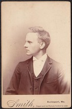 CHARLES ALLEN CHASE CABINET CARD PHOTO - E.M.C. Seminary Bucksport, Maine - $19.75