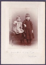Elva & Everett Nye Cabinet Card Photo - $17.50