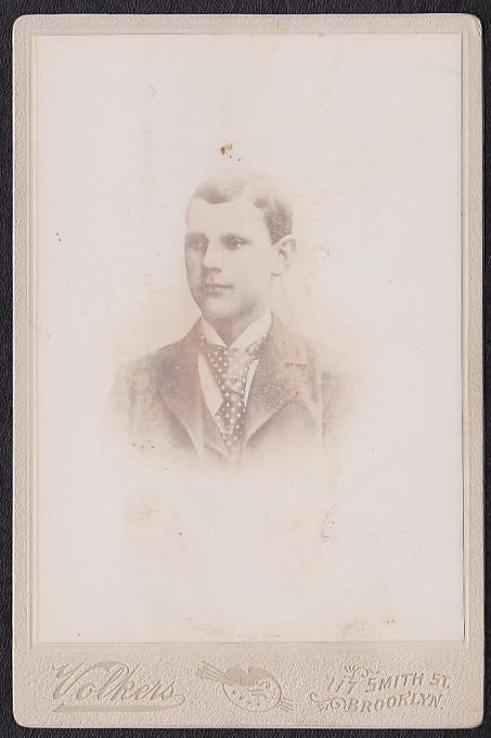 ERNEST SANDBERG CABINET CARD PHOTO - Brooklyn New York
