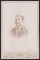 ERNEST SANDBERG CABINET CARD PHOTO - Brooklyn New York - $17.50