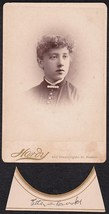 ETTA BROOKS CABINET CARD PHOTO - Boston, Massachusetts - $17.50