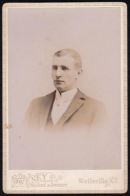HENRY S. HAYNES CABINET CARD PHOTO #3 - Geneseo, New York / Wellsville, NY