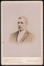 HENRY S. HAYNES CABINET CARD PHOTO #3 - Geneseo, New York / Wellsville, NY - $17.50