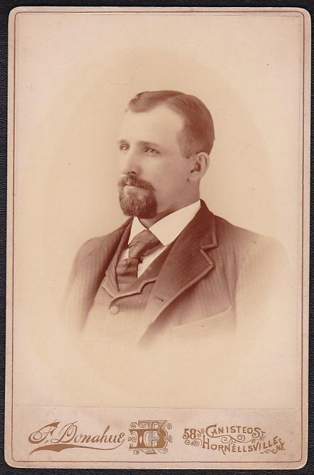 HENRY S. HAYNES CABINET CARD PHOTO #5 - Geneseo, New York / Hornellsville, NY