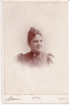 HESTER MORSE CABINET CARD PHOTO - Brooklyn, New York - $17.50