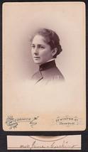 JANE CUSHING CABINET CARD PHOTO - Boston, Massachusetts - $17.50