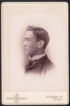 JOHN W. AMOS CABINET CARD PHOTO - E.M.C. Seminary Bucksport, Maine - $19.75