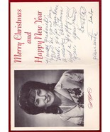 LORETTA LYNN ORIGINAL AUTOGRAPH SIGNED PHOTO CHRISTMAS CARD - $300.00