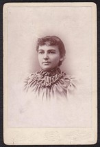 LUTIE A. CRAWFORD CABINET CARD PHOTO - Alton, Maine / Merrimac, MA - $17.50