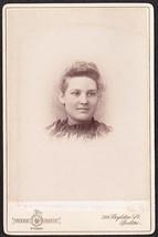 MABEL RAYE CABINET CARD PHOTO - E.M.C. Seminary Bucksport, Maine - $19.75