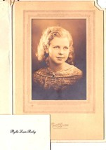 PHYLLIS LOUISE BAILEY CABINET CARD PHOTO - Waterville, Maine (1936) - $17.50
