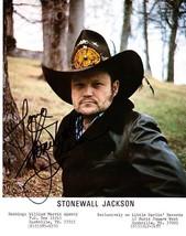 STONEWALL JACKSON ORIGINAL AUTOGRAPH SIGNED 8x10 COLOR PHOTO - $40.00