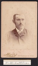 W.H. CUTTING CABINET CARD PHOTO - Boston, Massachusetts - $17.50