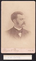 W.W. CUTTING CABINET CARD PHOTO - Bath, Maine - $17.50