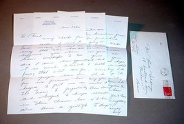 "WILF CARTER ""MONTANA SLIM"" HANDWRITTEN SIGNED AUTOGRAPH 3-PAGE LETTER - $275.00"