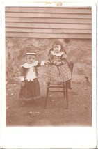 YOUNG CHILDREN IN EASTERN EUROPE COSTUMES CABINET PHOTO - $12.95
