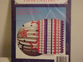 Paper Lanterns Hanging 2 New in Package Patriotic Red White & Blue 4TH O... - £5.12 GBP