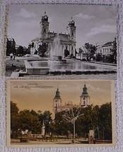 (2) HUNGARIAN TOWN SCENES - Jaszapati & Debrecen - $11.95
