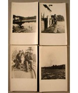 (4) MAINE LOG DRIVE PRE-1920 REAL PHOTO POSTCARDS - $95.00