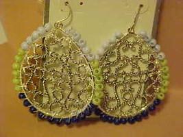New Pierced Earrings Silver Tone Beaded Dream Catcher Dangle Dangling Je... - $8.83