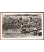BLACK RAILROAD WORKERS RPPC - Pitch Lake, Trinidad - $39.95