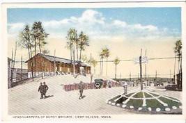 CAMP DEVENS, MA PRE-1920 POSTCARD - Depot Brigade Hdq. - $13.75