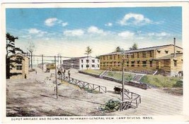 CAMP DEVENS, MA PRE-1920 POSTCARD - Depot Brigade - $13.75